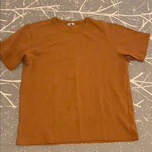 Mustard Uniqlo T Shirt